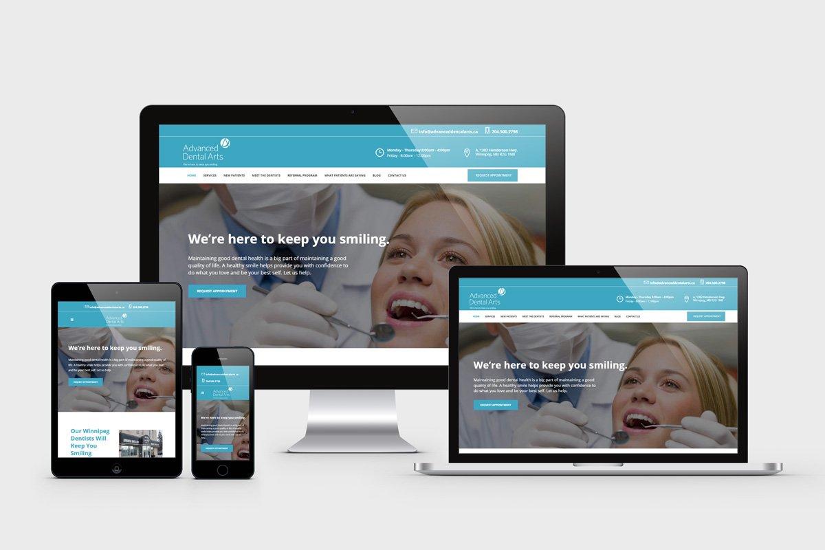 Dental Clinic Website Design Winnipeg